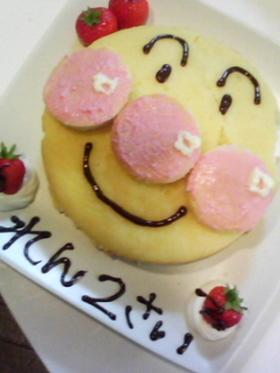★アンパンマン★超簡単!誕生日ケーキ