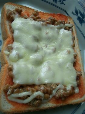 栄養満点♪納豆ピザ