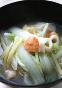 娃々菜シーフードスープ