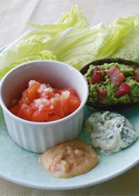 娃々菜のカナッペ風サラダ