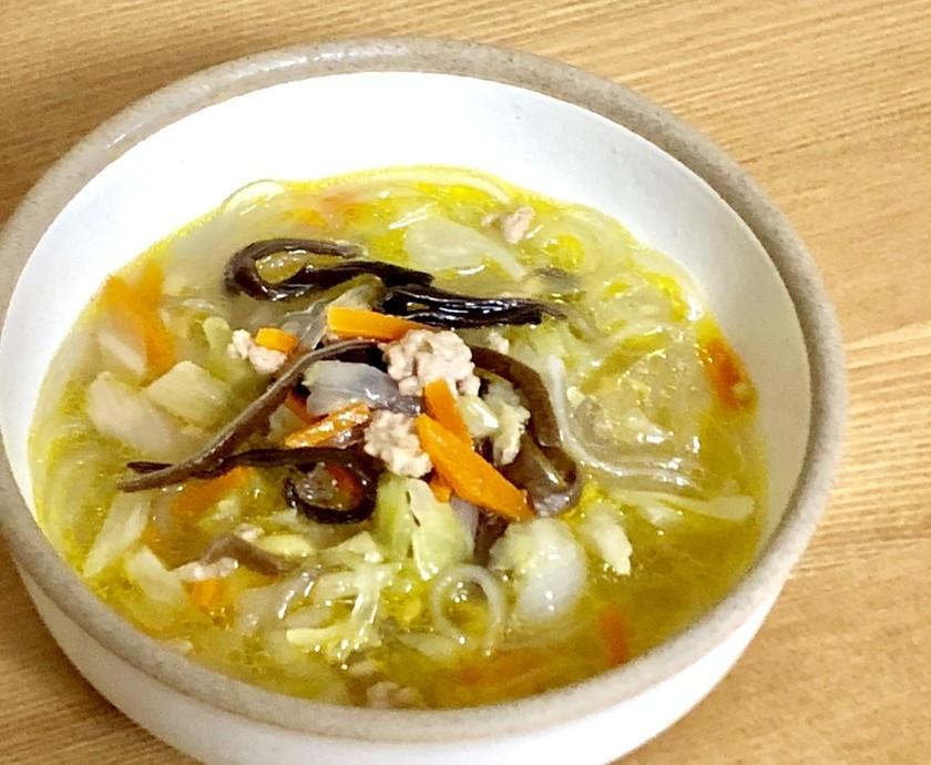 ダイエットにも♪ 簡単生姜入り春雨スープ