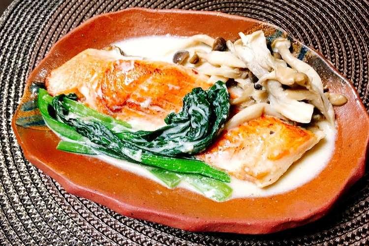 クリーム 煮 鮭
