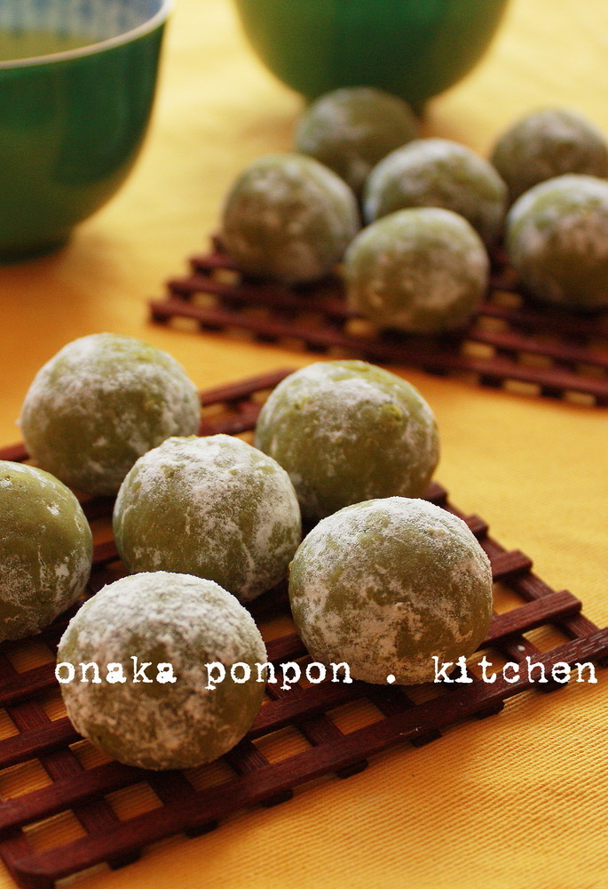 サラダ油で抹茶ミルク♡スノーボール