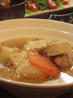 豆腐の元気ゴマスープ