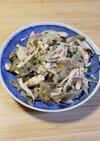 サラダチキンで簡単美味しい炒め物