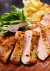 イベリコ豚ロースのガーリックステーキ