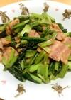 簡単!小松菜とベーコンの胡麻マヨソテー