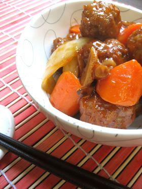 豆腐入り肉団子と野菜の甘酢あんかけ
