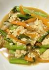 麻婆の素で冷凍豆腐と野菜の炒め物