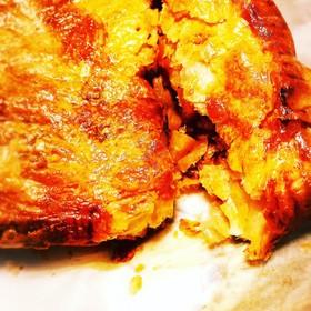 ベーコンポテトとツナとズッキーニのパイ