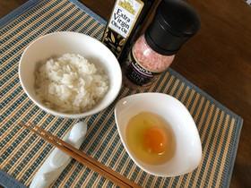 卵かけご飯 オリーブオイル