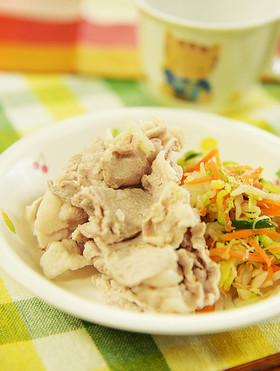 保育園の給食★豚肉のしゃぶしゃぶ風和え物