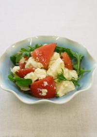 トマトとちぎり豆腐のサラダ