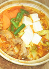 鍋の素不要!キムチ&麺つゆで簡単キムチ鍋