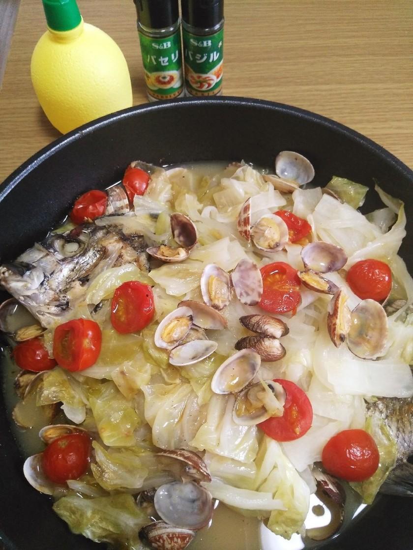 ♡家にある野菜で簡単にアクアパッツァ♡