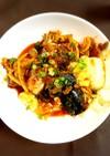 超簡単♪鯖缶と豆腐とキムチ煮