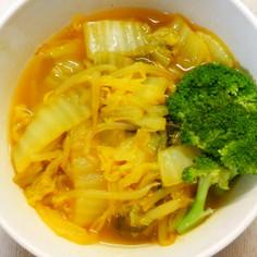 簡単❁白菜ともやしの味噌カレー風味スープ