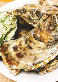 殻付き牡蠣のまるごと酒蒸し