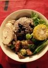 夏野菜と黒豆のカラフルベジボウル