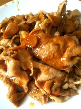 豚肉のニンニク醤油焼き