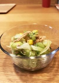 カレーの副菜に!ツナ油缶で簡単彩りサラダ