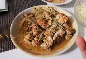 簡単♪鶏もも肉のもやし&ネギ塩ダレ炒め