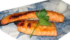 鮭のハラス焼き☆温泉の塩のみ