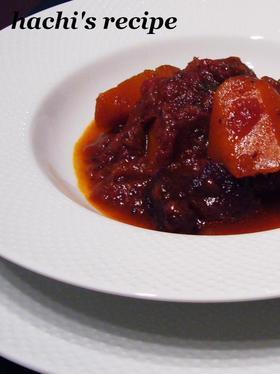 簡単☆牛すね肉の赤ワイン煮込み