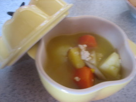 ~。:*レストランの食べるスープ*:。~