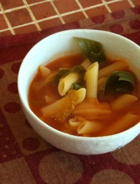 レンズ豆とたっぷり野菜のパスタスープ❤