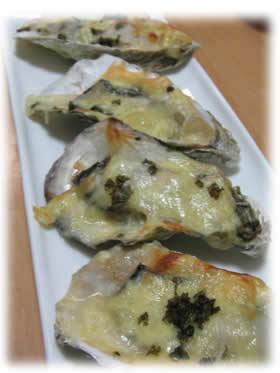 岩牡蠣のグラタン