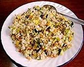 ジャコと鮭と大根葉の炒飯