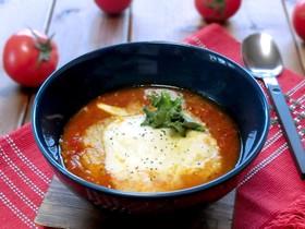 トマトの食べるグラタンスープ