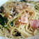 ベーコンとほうれん草の味ぽんスパゲティ