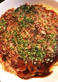 【腸活】サバ缶とエノキのお好み焼き