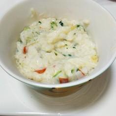 野菜スープごはんでミルクリゾット