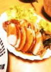 紅茶豚の梅ジャムソースがけ