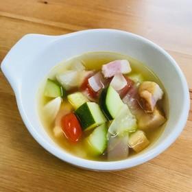 夏野菜★トマトとズッキーニの極うまスープ