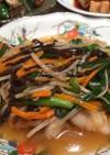 鱈の中華風野菜あんかけ