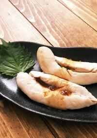 簡単絶品☆鶏ささみのしぎ焼き