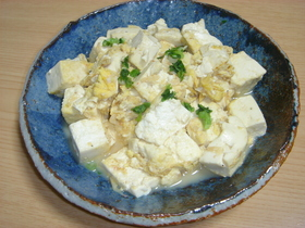 簡単お豆腐炒め