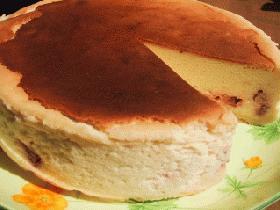 スフレタイプのチーズケーキ