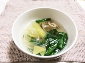 デトックス☆ニラとネギの春雨スープ