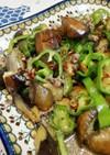 茄子とピーマンの肉味噌炒め