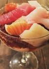 和風ジュレと豆腐クリームの刺身オードブル