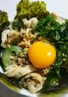 納豆は夜がおすすめ!梅笹身と納豆の丼