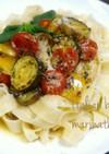 夏野菜で♪イタリアン焼きマリネのパスタ