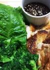 サムギョプサル風鶏モモ肉のカリ2チキン巻