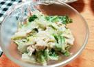 塩レモン揉み白菜とチキンのサラダ