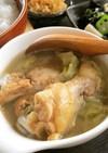 簡単!朝食◎手羽元とキャベツの生姜スープ